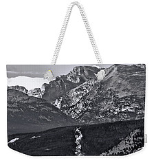 Weekender Tote Bag featuring the photograph Path To Longs Peak by Dan Sproul