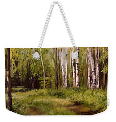 Path To The Birches Weekender Tote Bag