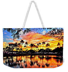 Weekender Tote Bag featuring the digital art Path To The Sea by DJ Florek