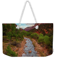 Weekender Tote Bag featuring the photograph Path To Zion by Darren White