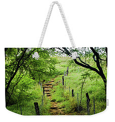 Weekender Tote Bag featuring the photograph Pathway Of Life by Pamela Walton