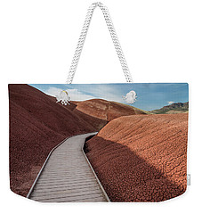 Weekender Tote Bag featuring the photograph Pathway Through The Reds by Greg Nyquist
