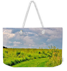 Pathway Through Wildflowers Weekender Tote Bag