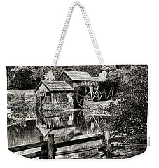 Weekender Tote Bag featuring the photograph Pathway To Marby Mill In Black And White by Paul Ward