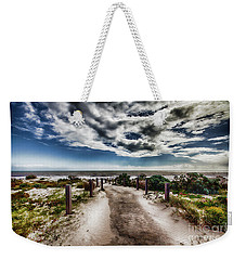 Weekender Tote Bag featuring the photograph Pathway To The Beach by Douglas Barnard