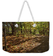 Weekender Tote Bag featuring the photograph Pathways In Fall by Iris Greenwell