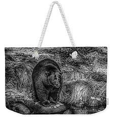Patient Black Bear Weekender Tote Bag