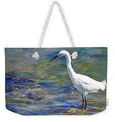 Patient Egret Weekender Tote Bag by AJ Schibig