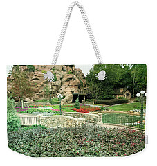 Weekender Tote Bag featuring the photograph Patina Green Flower Garden Walkway by Aimee L Maher Photography and Art Visit ALMGallerydotcom