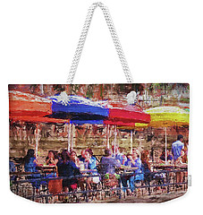 Patio At The Riverwalk Weekender Tote Bag