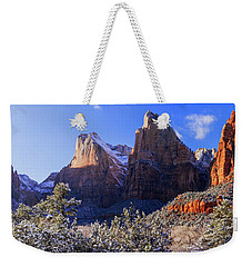 Weekender Tote Bag featuring the photograph Patriarchs by Chad Dutson
