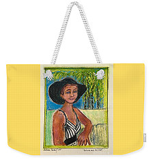 Patricia And Her Hat Weekender Tote Bag