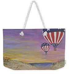 Patriotic Balloons Weekender Tote Bag by Debbie Baker