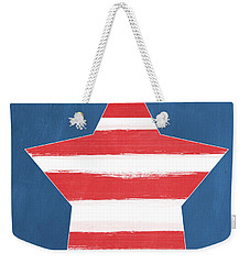 Patriotic Star Weekender Tote Bag