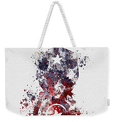 Patriotic Supersoldier Weekender Tote Bag by Rebecca Jenkins