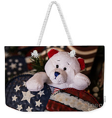 Patriotic Teddy Bear Weekender Tote Bag
