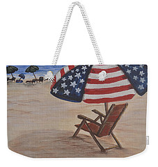 Patriotic Umbrella Weekender Tote Bag