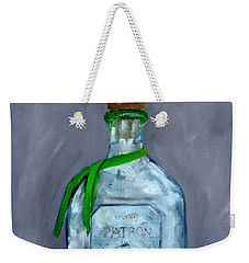 Patron Silver Tequila Bottle Man Cave  Weekender Tote Bag