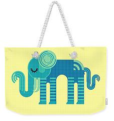 Pattern Elephant Weekender Tote Bag
