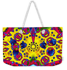 Pattern Intersect Weekender Tote Bag by Ron Bissett