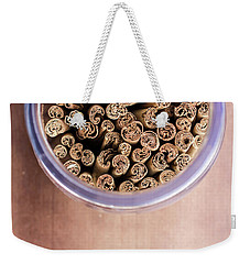 Weekender Tote Bag featuring the photograph pattern of Cinnamon  by Jingjits Photography