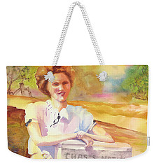 Patty Waiting For Richard Weekender Tote Bag by Tara Moorman