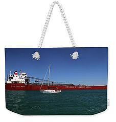 Paul J. Martin And Sailboat Weekender Tote Bag