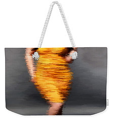 Weekender Tote Bag featuring the digital art Paulina by Nancy Levan