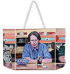 Weekender Tote Bag featuring the painting Pause For Reflection by Tom Roderick