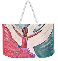Weekender Tote Bag featuring the painting Fortress by Jessica Eli