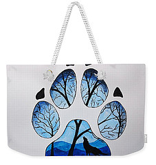 Weekender Tote Bag featuring the painting PAW by Edwin Alverio