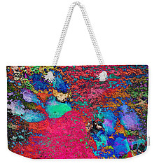 Paw Prints Colour Explosion Weekender Tote Bag