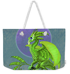 Weekender Tote Bag featuring the digital art Pea Pod Dragon by Stanley Morrison