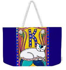 Peace And Love - Cat Art By Dora Hathazi Mendes Weekender Tote Bag by Dora Hathazi Mendes