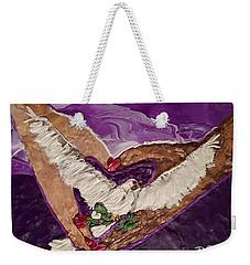 Peace And Love Weekender Tote Bag