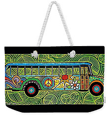 Peace And Love Hippie Bus Weekender Tote Bag by Jim Harris