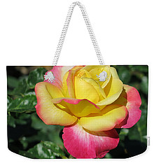 Peace And Love Rose Weekender Tote Bag by Betty Buller Whitehead