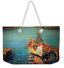 Weekender Tote Bag featuring the painting Peace At Christmas by Dorothy Allston Rogers