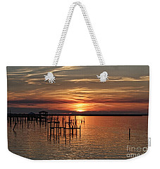 Peace Be With You Sunset Weekender Tote Bag