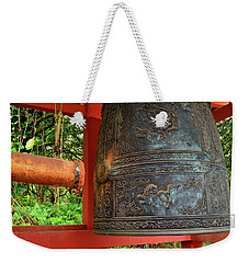 Weekender Tote Bag featuring the photograph Peace Bell by James Kirkikis