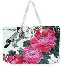 Peace Flowers Weekender Tote Bag