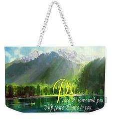 Peace I Give You Weekender Tote Bag