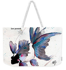 Peace In Change With Zen Proverb Weekender Tote Bag by Bill Searle