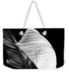 Peace Lily Minimalism In Black And White Weekender Tote Bag