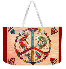 Peace Love And Harmony Weekender Tote Bag