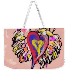 Peace. Love. Prayers. Weekender Tote Bag by Jason Nicholas