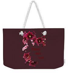 Peace Not War Weekender Tote Bag