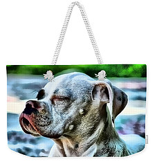 Weekender Tote Bag featuring the digital art Peace Of Mind by Kathy Tarochione