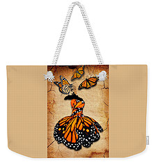 Weekender Tote Bag featuring the mixed media Peace Of Mind by Marvin Blaine