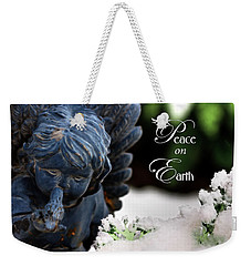 Weekender Tote Bag featuring the photograph Peace On Earth Angel by Shelley Neff